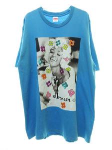 シュプリーム SUPREME 20SS Naomi Tee ナオミキャンベル フォトプリント 半袖 Tシャツ L ブルー 210809☆AA★ メンズ