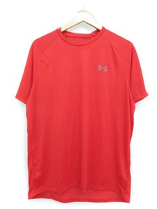未使用品 アンダーアーマー UNDER ARMOUR テック ショートスリーブ Tシャツ 半袖 トレーニング レッド XL メンズ