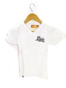 未使用品 ガッチャ GOTCHA Tシャツ カットソー 半袖 Vネック 刺繍 白 ホワイト 110 キッズ