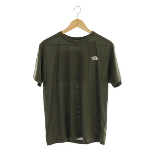 未使用品 ザノースフェイス THE NORTH FACE S/S Logo Camo tee Tシャツ 半袖 プリント M 緑 カーキ NT32035 /MY ■OS メンズ