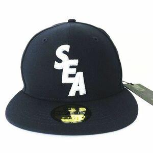 未使用品 ウィンダンシー WIND AND SEA NEWERA 59 FIFTY CAP NAVY WDS-ERA-01 7 1/2 59.6cm ニューエラ キャップ 刺繍 帽子 紺 ネイビー3