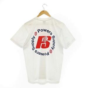 パワーズ POWERS H BEAUTY&YOUTH取り扱い LOGO SS T-SHIRT Tシャツ ロゴプリント クルーネック 半袖 コットン M 白 ホワイト /HS ■OS