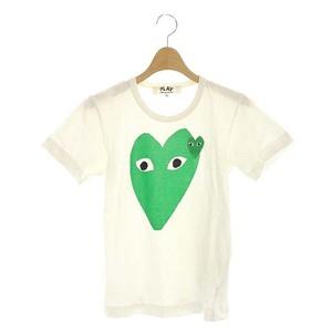 プレイコムデギャルソン PLAY COMME des GARCONS AD2009 Heart 半袖 ハート Tシャツ コットン S 白 ホワイト /HS ■OS レディース