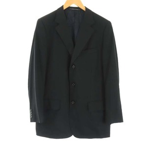 グッチ GUCCI WOOL MOHAIR ウール モヘア テーラードジャケット シングル 3B センターベント 48 M 黒 ブラック /KH メンズ