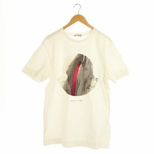 モンクレール MONCLER ジーニアス × アリクス 1017 ALYX 9SM 20SSプリントTシャツ カットソー 半袖 国内正規 M 白 ホワイト /ES ■OS