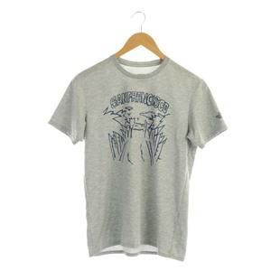 ザノースフェイス THE NORTH FACE プリント Tシャツ カットソー 半袖 ロゴ クルーネック M グレー NT31389 /AA ■OS メンズ