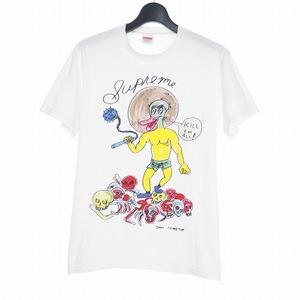 シュプリーム SUPREME 20SS Daniel Johnston Kill Em All Tee イラストプリント 半袖Tシャツ S ホワイト 白 メンズ