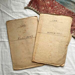 アンティーク ビンテージ 古着 ディスプレイ 生地サンプル帳 フランス イギリス イタリア ツイード 生地 古書 トラッド 洋書