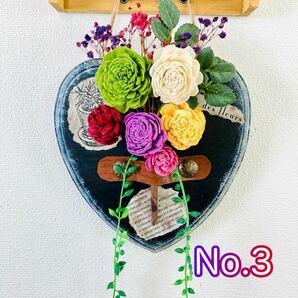 ウォールインテリア 花瓶 アート 壁掛け トールペイント フラワーアレンジメント プリザーブドフラワー