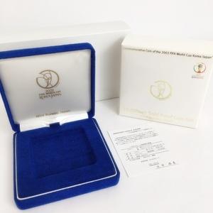 ケースのみ 2002 平成14年 FIFA ワールドカップ 1万円金貨 プルーフ貨幣セット 記念貨幣 日韓 造幣局 コレクション 中古 空箱 美品 K4497