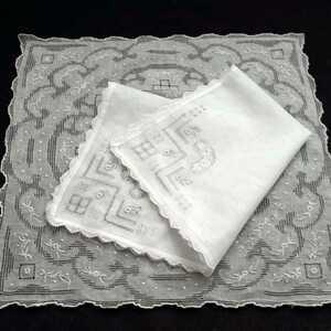 汕頭 ハンカチ (2枚セット) スワトウ スワトー 刺繍 中国伝統工芸品