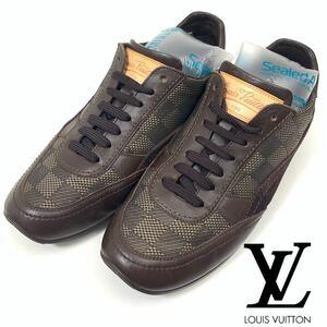 Louis Vuitton ルイ ヴィトン Demier ダミエ スニーカー 靴 イタリア製 6 25cm
