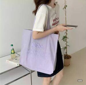 韓国 トートバッグ エコバッグ Bebe 刺繍