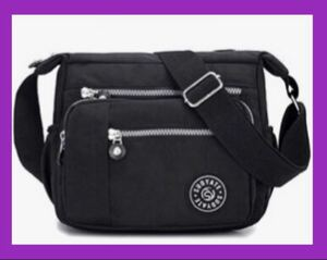 ショルダーバッグ 斜めがけ 軽量 レディースバッグ ボディーバッグ 黒 iPad ショルダーバッグ