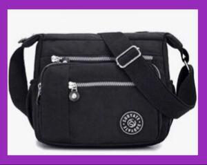 ショルダーバッグ 斜めがけ 軽量 レディースバッグ ボディーバッグ 黒 iPad 肩掛け ブラック
