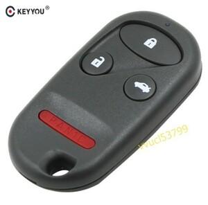 リモートカーキーシェルケース3 + 1ホンダアコードCRV S2000シビックオデッセイオートキーレスエントリーフォブキーケース用4ボタン