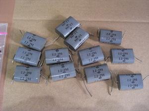 メタラズドフィルムコンデンサー NTK 中古品 2,2μFー250V 12個 容量チェック。