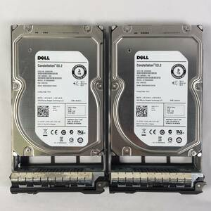 K381968 DELL 3TB SAS 7.2K HDD 3.5 -inch 2 point [ used operation goods ]