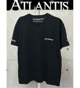 銀座店 新品 クロムハーツ アメリカンフラッグ プリント Tシャツ 半袖 黒 size:XL