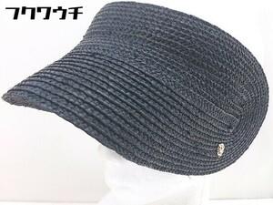 ◇ Helen Kaminski ヘレンカミンスキー サンバイザー 帽子 ブラック レディース 1108030000577