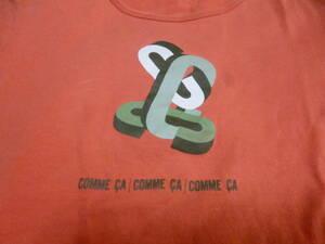 COMME CA オレンジ Tシャツ 綿100% 中古