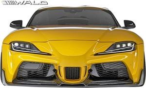 【M's】TOYOTA GRスープラ RZ/SZ-R/SZ 前期 (R.01.05-) WALD WIDE VERSION フロントバンパースポイラー / ヴァルド エアロ カスタム 外装