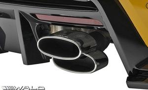【M's】GRスープラ RZ/SZ-R/SZ 前期 (R.01.05-) WALD マフラーカッター (PILED160x2) ヴァルド バルド エアロ用 パーツ カスタム オーバル