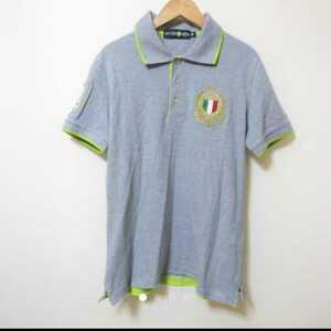 ハイドロゲン グレー 半袖 ポロシャツ L ◇154