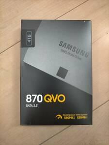 【新品】(送料無料) SAMSUNG 内蔵SSD 4TB 870QVO 7mm 2.5インチ