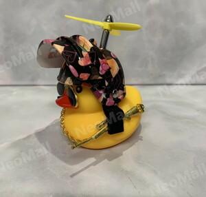 光る ちょいワル アヒル ハート 自転車 バイク 車に!サングラス ネックレス プロペラ ライフル付きDJ072
