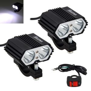 2個セット 30W 5000LM オートバイヘッドライト スポットライト2x XM-L T6 LEDフォグランプ付き スイッチ付き ライト ランプ ZCL017