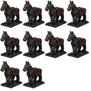 レゴ互換 黒馬 10体