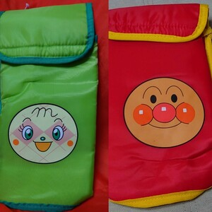 アンパンマンとメロンパンナちゃんのクーラーバッグ  ペットボトルホルダー  保冷バッグそれぞれ4本入る。