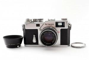 美品 Nikon ニコン S3 レンジファインダーカメラ レンズ NIKKOR-H 1:2 f=5cm シャッター確認済み 836208