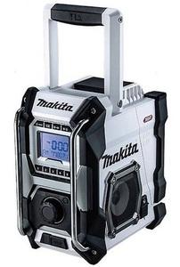 マキタ 充電式ラジオ MR001GZW 白 本体のみ 大型スピーカ×2 AC100V 10.8V対応 14.4V対応 18V対応 40Vmax対応 makita