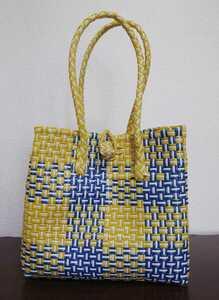 プラカゴ メケアリ メルカド トート バッグ ハンドメイド プラスチックバッグ かごバッグ