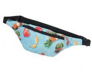 69slam ロックスラム ボディバッグ ボディーバッグ ウエストポーチ ウエストバッグ 男女兼用 フルーツ柄