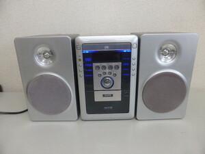 ジャンク【通電確認済・CDNG・カセットOK】サンヨー カセット CD コンポ DC-M1 リモコン無し