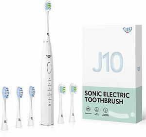 電動歯ブラシ 歯垢除去 ホワイトニング 歯周病予防 音波歯ブラシ 替えブラシ5本 歯ブラシセットUSB充電式 口内ケア 五つモードと2分