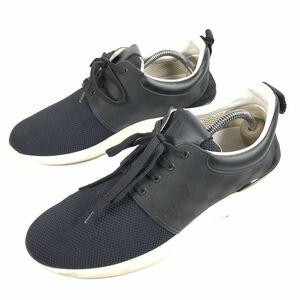 【ルイヴィトン】本物 LOUIS VUITTON 靴 25.5cm 黒 ダミエライン ファストレーン スニーカー カジュアルシューズ レザー×PVC メンズ 6 1/2