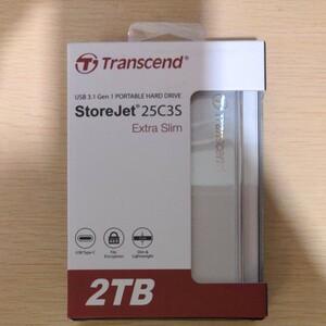 ポータブルハードドライブ 2TB|Transcend TS2TSJ25C3S