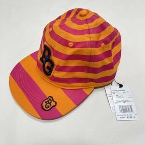 新品 パーリーゲイツ フラット キャップ 帽子 ボーダー 帽子 ソフトキャップ PEARLYGATES