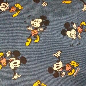 ミッキーマウス オックス生地 はぎれ