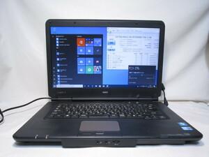 NEC VersaPro VJ24L/L-B PC-VJ24LLZCB Core i3 370M 2.4GHz 4GB 750GB 15.6インチ DVDマルチ Win10 64bit Office HDMI [79828]