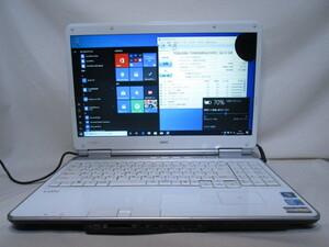 NEC LaVie GL22SS/8G Core i5 430M 2.26GHz 4GB 62GB 爆速SSD 500GB HDD 15.6型 DVD作成 ブルーレイ Win10 64bit Office Wi-Fi [79882]