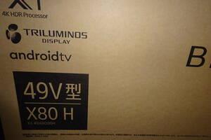 新品保証付ソニー SONY KJ-49X8000H [BRAVIA(ブラビア) 49V型 地上・BS・110度CSデジタル液晶テレビ 4K