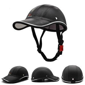 新品 PU 革 ヘルメット 帽子 安全 メガネ ML315 バイク 保護 アクセサリー