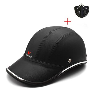 新品 ヘルメット キャップ ハーフフェイス 抗UV ハード PUレザー 安全 帽子 ML315-BE107 バイク 保護 アクセサリー