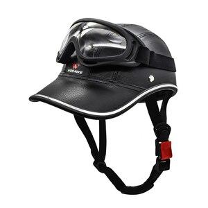 新品 ヘルメット 電動 ハーフフェイス 安全 ヘッド ボード サイクリング Helmet+Goggles 2 バイク 保護 アクセサリー