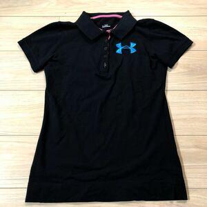 UNDER ARMOUR アンダーアーマー ポロシャツ 半袖シャツ Lサイズ 黒 レディース 美品